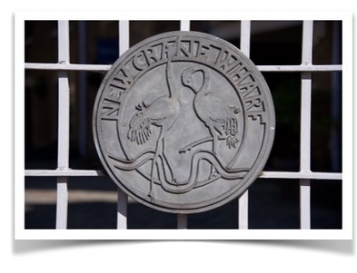 roundel on gate - welcome page